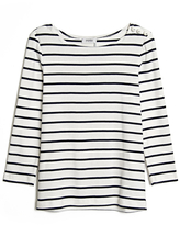 Sonia by Sonia Rykiel Crystal-button Striped Top
