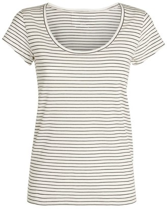 Frame Le Mid-Rise Scoop Stripe T-Shirt