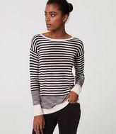 LOFT Stripe Textured Sweater Tunic