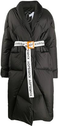 KHRISJOY Logo Belt Coat