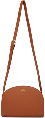 A.P.C. Brown Demi-Lune Bag
