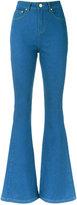 Lilly Sarti - flared denim trousers - women - Cotton/Spandex/Elastane - 36