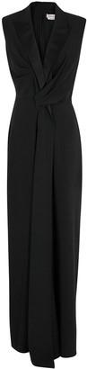 Alexander McQueen Black Tuxedo Gown