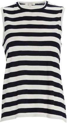 Nili Lotan Striped Cotton Muscle T-Shirt