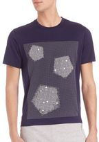 Z Zegna Flocking Pentagon Shapes Jersey T-Shirt