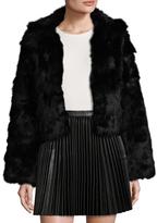 Adrienne Landau Rabbit Fur and Fox Fur Jacket