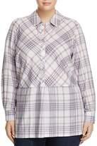 Foxcroft Plus Maddy Winter Plaid Tunic Top