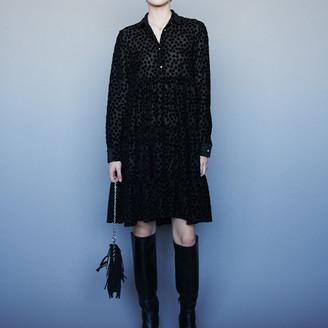 Maje Devore velvet babydoll-style dress