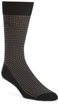 Alexander McQueen Men's Cotton Blend Houndstooth Socks