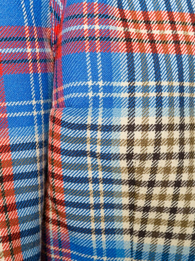 Thumbnail for your product : Charles Jeffrey Loverboy Shepherd tartan blazer