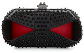 Christian Louboutin Grandotto Spike Clutch Bag, Black/Red
