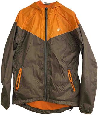 Nike Orange Synthetic Jackets