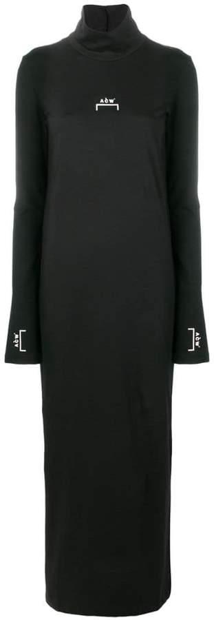 A-Cold-Wall* logo printed long dress