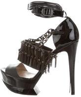 Nicholas Kirkwood Chain-Embellished Platform Sandals