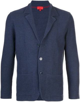 Isaia Single-Breasted Knitted Blazer