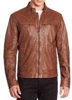 Cole Haan Leather Zip-Up Jacket