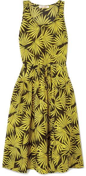 Diane von Furstenberg Printed Cotton And Silk-blend Voile Midi Dress - Yellow
