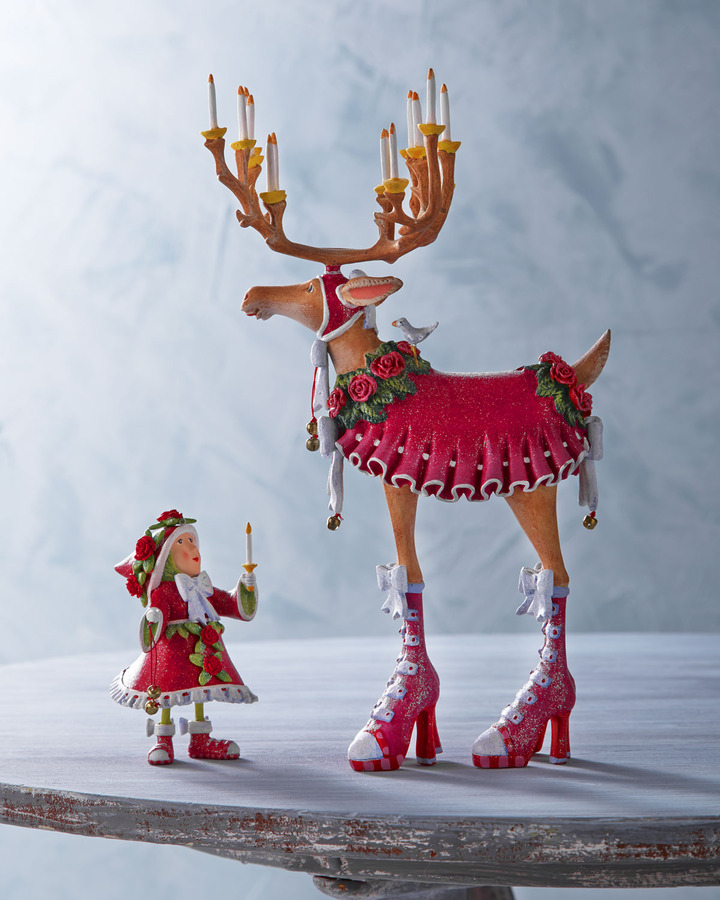 """Patience Brewster Donna"""" Reindeer Figure and Elf Ornament"""
