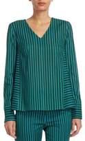 Akris Punto Striped A-Line Shirt