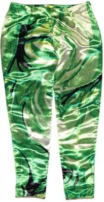 Richard Quinn Green Polyester Trousers