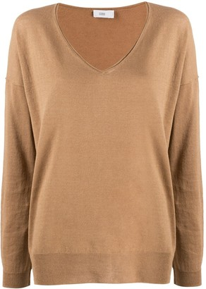 Closed Relaxed-Fit V-Neck Jumper