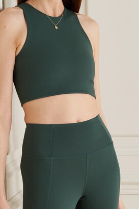 Girlfriend Collective Dylan Recycled Stretch Sports Bra - Green