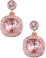 Givenchy Rose Gold and Vintage Rose Swarovski Crystal Drop Earrings