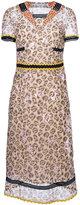 Coach nautical floral midi dress - women - Cupro - 4