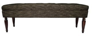 Mjl Furniture Designs MJL Furniture Claudia Diamond Tuft Lucky Upholstered Long Bench