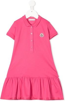 Moncler Enfant Logo Polo Midi Dress
