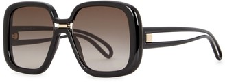 Givenchy GV 7106 Black Oversized Sunglasses