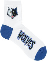 For Bare Feet Minnesota Timberwolves Ankle White 501 Socks