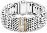 Lagos 18K Gold & Sterling Silver Diamond Lux Single Station Bracelet, 23mm
