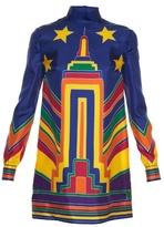 Valentino Skyline-print high-neck tunic dress