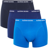 Bjorn Borg Men's Three Pack Solid Boxer Shorts