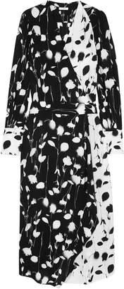 Equipment Neema Wrap-effect Printed Crepe De Chine Midi Dress