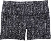 Joe Fresh Women's Floral Active Short, Black (Size M)