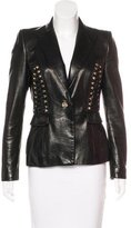 Just Cavalli Leather Lace-Up Jacket