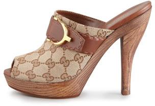 Gucci Stirrup High-Heel Clog