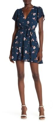 Rowa Floral Waist Tie Mini Dress