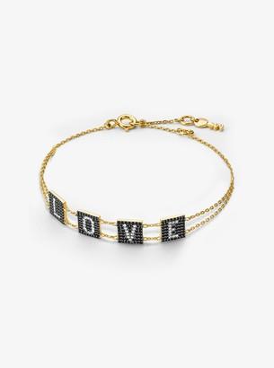 Michael Kors 14K Gold-Plated Sterling Silver Pave Love Bracelet
