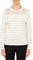 See by Chloé Striped T-Shirt With Fringes