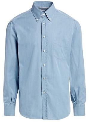 Brunello Cucinelli Basic-Fit Chambray Shirt