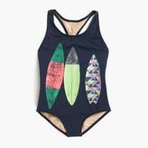 J.Crew Girls' racerback one-piece swimsuit with surfboard trio
