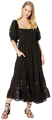 Free People Lets Be Friends Midi (Black) Women's Clothing