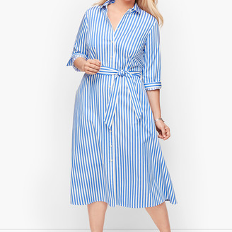 Talbots Classic Poplin Shirtdress - Vertical Stripe