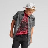 art class Boys' Short Sleeve Button Down Shirt - Art Class Black