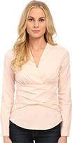 NYDJ Women's Faux Double Wrap Top with Fit Solution