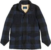 Myths Plaid Wool Flannel & Faux Shearling Coat