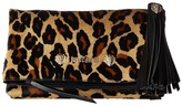 Just Cavalli Cheetah Clutch with Tassel Clutch Handbags